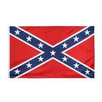Direct Factory Commercio all'ingrosso 3x5fts ribelle confederato flag Dixie South Alliance Guerra civile Banner storico americano 90x150 cm