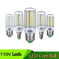 SMD5730 E27 GU10 B22 E14 G9 LED Lamba 7 W 12 W 15 W 18 W 20 W 220 V 110 V 360 Açı SMD LED Ampul LED Mısır Işık