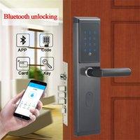전자 스마트 WiFi 원격 블루투스 암호 도어 잠금 디지털 키패드 도어 잠금 TTLOCK 응용 프로그램, 코드, M1 카드 및 키 2011