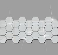 3D Altıgen Akrilik Ayna Duvar Çıkartmaları DIY Sanat Duvar Dekorasyonu Çıkartmalar Ev Dekorasyonu Oturma Odası Aynalı Dec Jlltwa Mxyard