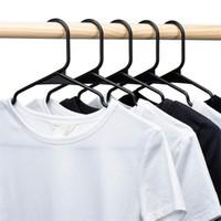Schwarzweiß-Kunststoff-Mantel-Kleiderbügel trocken nass dualzweck PP Rundrohr-Kleidung Trocknungsunterstützung Multicolor NEU 0 66LX J2