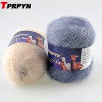 TPRPYN 6Pcs = 252g Soft мохер для ручного вязания крючком шерсти вязать линии нити норка пуха плюшевой пряжи ручной работы C1030