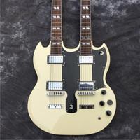 عالية الجودة برئاسة مزدوجة الغيتار الكهربائي، ومصنع تخصيص 12 سلسلة + 6 سلسلة الصفراء. 100٪ الصور الغيتار الأصلي، والصوت جيد النوعيه