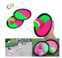 1set Çocuklar Sucker Sabit Topu Raket Oyuncak Doğa Sporları Yakalama Topu Oyun Seti Atma Ve Yakalama Veli-Çocuk Etkileşimli Açık Oyuncak