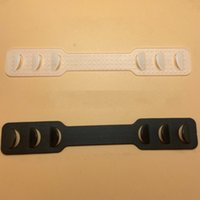 PE البلاستيك قابل للتعديل قناع الفرقة الإيكولوجية الصديقة أسود أبيض لون اثنين من الألوان تمديدات الوجه أقنعة حامل مرونة حزام الضابط جودة عالية 0 3 hy l2