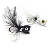 Yazhida Fly Popper Fishing Lure 10pcs Cebo flotante para Bass Trout Pike Piefish YZD-Fly Popper Freshwater Bait Y200829