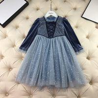 공주 의상 생일 파티 드레스 어린 소녀 겨울 가을 벨벳 레이스 옷 아이 코스프레 의상 여자 선물 아이디어