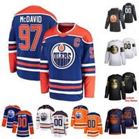 사용자 정의 남성 여성 청소년 유니폼 웨인 Gretzky Connor McDavid Mark Messier Ethan Bear Leon Draisaitl James Neal Stitched