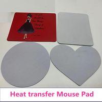 Kablosuz Özelleştirilmiş Kalp Şekli Mouse Pad Boş Isı Transferi Bilgisayar Pad Süblimasyon Tablet Selfie Sopa