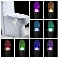 Tomshine 16 Cores LED Dimbable Flexible Assento WC Night Lamp Motion ativado Sensível Bathroom Bowl Light
