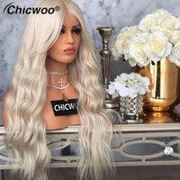 الرباط الباروكات # 60 اللون البلاتين شقراء HD شفافة غلويليس كامل 8-28 الأوروبي شعر الإنسان الجبهة للنساء