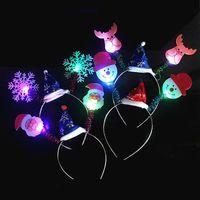 Women Girls LED Flashing Headband Light Up Hair Band For Christmas Holiday Decoration Party Christmas Gift Navidad Metal