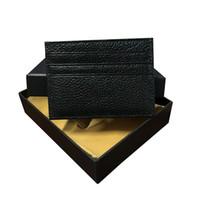 أعلى جودة حاملي بطاقة 2020 أزياء جديدة رجال الأعمال أزياء محافظ عالية الجودة محافظ صغيرة حامل البطاقة مع مربع