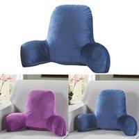 Подушка задняя кровать с подлокотником Подложка для чтения талии стул для автомобильного сиденья диван для отдыха (темно-синий)