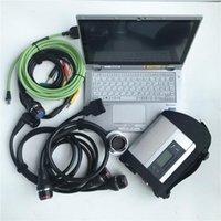 Yeni OBDII 12 V / 24 V MB Yıldız C4 Için BENS CARS Kamyonlar SD C4 Teşhis Programlama Kodlama Aracı ile CF-AX2 Tablet Teşhis Laptop1