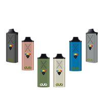 Autêntico G9 Dub Kit Seco Herb Vaporizador 1200mAh Vape Mod 5 Nível Controle de Temperatura de Nível Pré-aqueça Bateria 1.3ml Atomizador Genuine