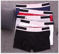 6 couleurs / lot Hommes Designer Marques Boxeurs Caleçons Sexy Classique Hommes Boxer Underwear Shorts coton respirant Sous-vêtements