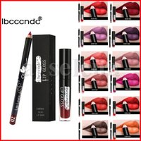 Sexy impermeable brillo de labios + labio de plato cosméticos lápiz labial mate labial lápiz labial lápiz lápiz lápiz lápiz lipliner conjunto 12 colores
