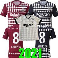 2020 2021 Vissel J1 League Futebol Jerseys Gotocu HotAu A.iniesta 20 21 Home Away 3ª Camisa de Futebol