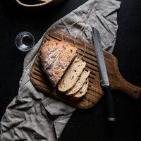 Blacks Blacks Blacks Acacia Ретро Pizza Суши поддон для поддонов для хлеба с ручкой для разделочной доски целый деревянный пищевой плита для кухни аксессуары T200111