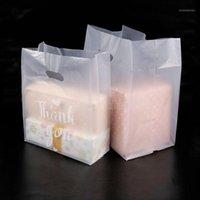 Merci plastique cadeau sac de cadeau robot robuste sac à provisions avec poignée Sacs d'emballage en plastique de bonbon en plastique