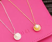 Versión coreana del collar de perla del collar de la clavícula colgante collar de perlas de imitación de Shell