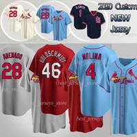St. Louis Cardinals 28 Nolan Arenado St. Louis Baseball Jersey Cardinal 4 Yadier Molina 46 Paul Goldschmidt 1 Ozzie Smith 13 Matt Carpenter Custom