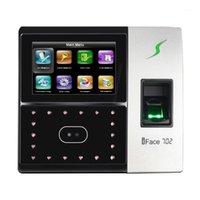 Sistema de reconhecimento facial 4.3 polegadas TFT Touch Screen IFACE702 Biométrico Fingerprint Scanner Time Assenciação de Tempo Gravação Device Door Security1