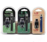 버텍스 법 LO VV 배터리 충전기 키트 350mAh CO2 오일 예열 배터리 전자 담배 vape 펜 맞추기 510 분무기 오일 카트리지 3 패키지