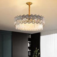 New contemporary crystal chandelier lights for hotel hall villa living room  hanging lamps personality creative pendant lighting
