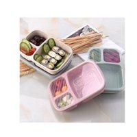 Kunststoff-Quadrat-Lunchbox-Student-Weizen-Lebensmittelaufbewahrung Küche Organizer Bento-Kuchen-Siegel-Up-Hülle Nahrungsmittelgrad Neue 3 2hh F2