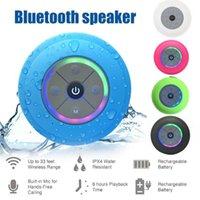 Mikrofone Q9 wasserdichte drahtlose LED Freisprecheinrichtung TF-Karte Bluetooth-Lautsprecher mit Sauger1