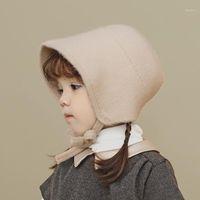 Mütze / Schädelkappen einfachen reinen farbe kinder ohrschutz woolen strickmütze für herbst und winter warm gestrickt baby fisherman1