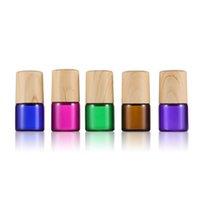 Huile essentielle 1ml 1/4 DRAM Bouteilles de rouleau en verre ambre rose vert violet vert vides rouleaux de parfum rouleau bouteille en stock