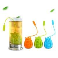 البومة أكياس الشاي مصفاة الإبداعية لطيف الغذاء الصف سيليكون فضفاض أوراق الشاي infuser تصفية الناشر متعة الكرتون شاي اكسسوارات YHM807