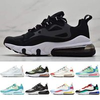 Nike Air Max 270 React V2 gros 2020 React Violet formation Hommes Triple blanc femmes noires presto d'olive Tiger tn Formateurs Sports de plein air Zapatos taille 36-45