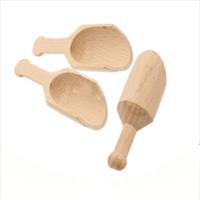 Mini Tahta Kaşık Banyo Tuz Baharat Toz Çay Yaprakları Kahve Çekirdeği Ölçme Kepçe Mutfak Gadgets Kepçe Yeni 1 16QB G2