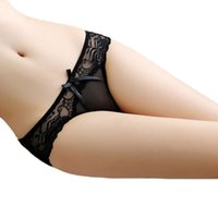 Bow Knot See Through Sexy Briefs Sexy Gift Will Women Panty Panties Lingerie Clothes And Women Underwear Sandy Lace Mbhbn