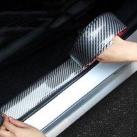 Автомобильные наклейки бампера автомобиля 5D углеродное волокно резиновые укладки дверной уборной защитный товар для автомобилей аксессуары автозапчастей