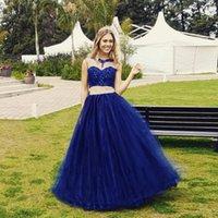 Pizzo Abiti Royal Blue Quinceanera di Applique in rilievo Cinture Manica ad aletta 2 Prom Dress pezzo per abiti da cerimonia abiti da sera del partito di robe de soiree