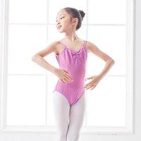Stage Wear Ballet Leotard Girls Dzieci Dance Gimnastyka Balerina Kostium Dzieci Camisole Czarny Purple Wear1