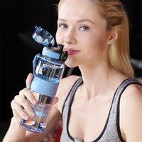 Uzspace sport bouteille d'eau portable étanche étanche shaker buvant bouteille infuseur de fruits infuseur de boissons en plastique 500 / 1000ml BPA free 201114