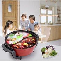 Frigideira elétrica 1 pc panela multifuncional mandarim pato fogão yuanyang 1500w 6l