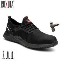 ROXDIA Marke plus Größe 36-46 Stahlkappe Männer Frauen Arbeitssicherheitsschuhe Mode leichte Turnschuhe beiläufige männliche Schuhe RXM124 201019
