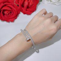 Heiße Verkauf Produkte Schraube Volle Bohrer Nägel Armband Gold Armbänder Frauen Punk Für Beste Geschenk Luxuriöse Überlegene Qualität Schmuck Armreifen