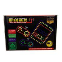 المحمولة المزدوج اللاسلكية gamepads سوبر ميني hd sfc sn-03 hd الفيديو hdtv الكلاسيكية لعبة وحدة المدمج في 821 ألعاب snes nes sfc fc الرجعية الاطفال