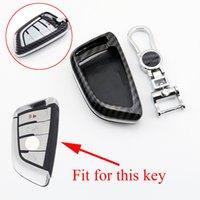 Kohlefaserschlüsselschale Halter Bag Hülle FOB Protector Cover Fit für BMW 2 5 6 7 Serie X1 X3 X6 X6 F45 F46 G30 G31 G32 G11 G12 F15 F15 F16