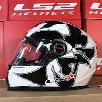 LS2 Classic Capacetes Moto Full Face Helm für Motorrad Racing Schutzzahnräder1