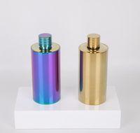 500 ml Paslanmaz Çelik Hip Şişesi Renkli Şarap Sürahi Flagon Şarap Pot Açık Taşınabilir Kaplama Silindir Şekli Hip Flasks GGA2592