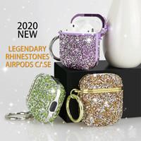 Cas de bling de diamant de luxe pour AirPods Pro 2 1 Couleur solide Hard Mignon Ecouteur sans fil Sac Couvercle de protection pour pods d'air 3